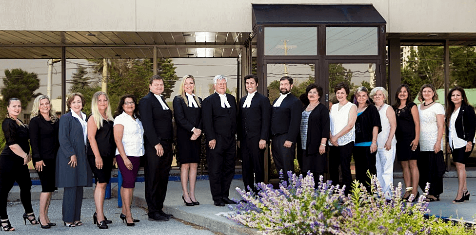 Malicki Sanchez Law Staff photo 2016 Mississauga, Ontario
